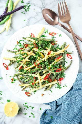 Roasted Green Bean Salad